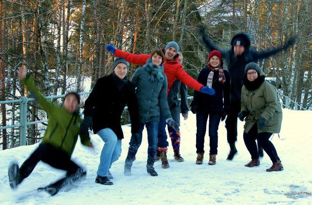 Hallitus ryhmäytyi Teiskon metsissä tammikuun alussa